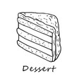 outline of cake vector image