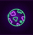 planet neon label vector image