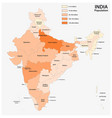 population map republic india vector image vector image