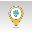 Rain Cloud Rainfall pin map icon Weather vector image vector image
