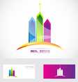 Real estate buildings colors logo vector image