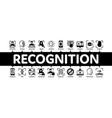 recognition minimal infographic banner vector image