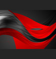 red black shiny glossy waves abstract background vector image vector image