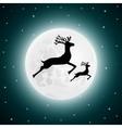 Reindeer and baby deer jumping vector image vector image