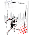 runner poster vector image vector image