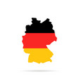 simple color germany map with shadow vector image