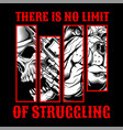 skull struggling hand drawingshirt designs biker vector image vector image