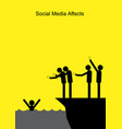 social media affects vector image vector image