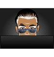 Software developer at work comic book style vector image