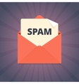 Spam mail in flat style vector image
