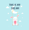 sweet bunny for print design vector image
