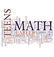 teens need math to land dream jobs text vector image vector image