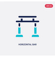 two color horizontal bar icon from gym and vector image vector image