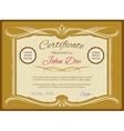 Vintage certificate template retro diploma vector image