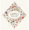 Vintage Christmas diamond greeting card vector image vector image