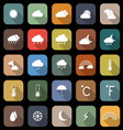 Weather flat icons with long shadow vector image vector image