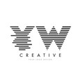 yw y w zebra letter logo design with black and vector image