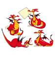 Funny dragons vector image