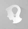 Head of person thinking idea vector image