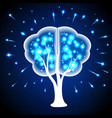 tree in the form of human brains thoughts shining vector image