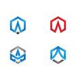 a logo hexagon icon vector image vector image