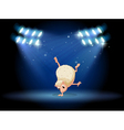 A molehog doing breakdance vector image vector image