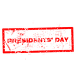 a rubber stamp for Presidents Day isolated vector image