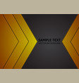 abstract gold and black background with copy space vector image