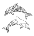 abstract outline of dolphin vector image vector image