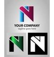 Alphabet icon N logo vector image vector image