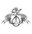 anchor and ribbon with lettering spirit vector image vector image