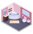 angular bath isometric interior vector image vector image