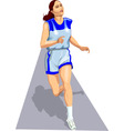 athlete on track vector image vector image
