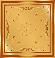 Background Vintage Style Design Abstract Golden vector image vector image