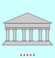 bank building it is icon vector image