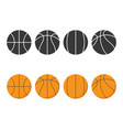 basketball icon isolated on background flat vector image vector image