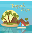 Beach Vacation Tropical Paradise Exotic Island vector image