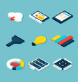 big data business isometric objects vector image vector image