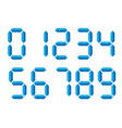blue 3d-like digital numbers seven-segment vector image vector image