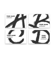 Business cards with abstract black paint smears vector image vector image