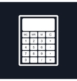 Calculator Isolated on Black Background vector image
