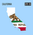 california map border with flag eps10 vector image vector image