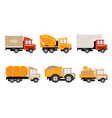 cargo construction and specialized machinery for vector image vector image