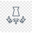 chandelier concept linear icon isolated on vector image