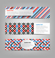 collection banners with abstract retro patterns vector image vector image