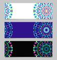colorful gravel mandala banner set - abstract vector image vector image