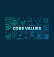 core values colored outline banner vector image vector image