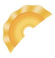 creste di gallo pasta icon realistic style vector image