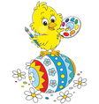 Easter Chick painter vector image vector image