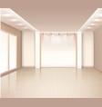 Empty Modern Room Interior vector image vector image